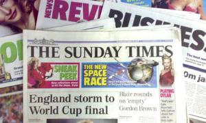 The Sunday paper... not for the faint hearted