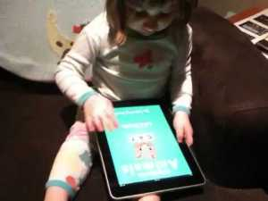 "A tech-geek father proudly films his ""User-interface experiment"""